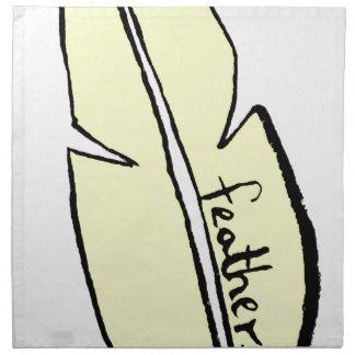 feather yellow napkin