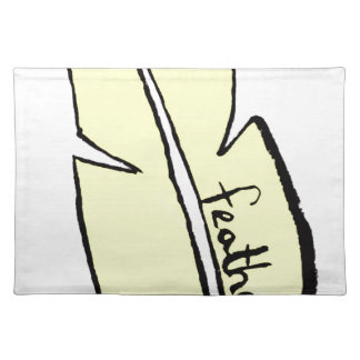 feather yellow placemat