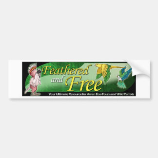 Feathered and Free Logo Bumper Sticker