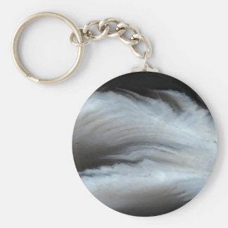 Feathered Black Agate cool natural stone Key Ring