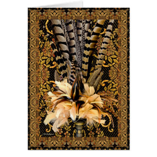 Feathered bouquet II Card