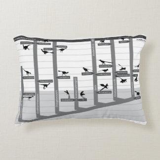 Feathered Dinosaur Cladogram Pillow