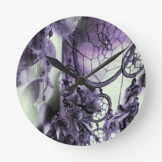 Feathered Dreams Round Clock