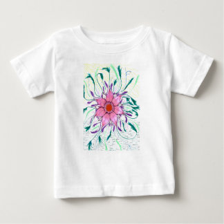 Feathered Flower Baby T-Shirt