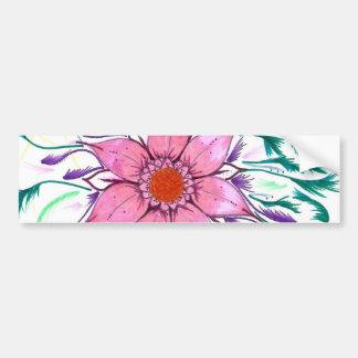 Feathered Flower Bumper Sticker