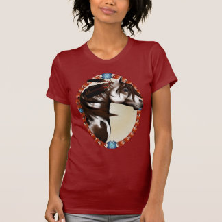 Feathered Paint Horse Oval Shirts