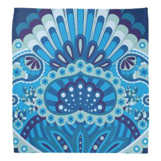 Feathered Paisley - Blueish Bandana