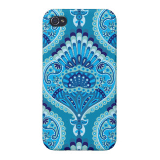 Feathered Paisley - Blueish Case For The iPhone 4