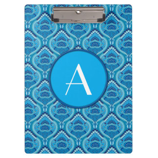 Feathered Paisley - Blueish Clipboard
