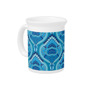 Feathered Paisley - Blueish Pitcher
