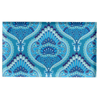 Feathered Paisley - Blueish Table Card Holders