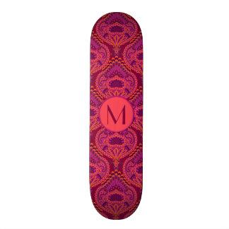 Feathered Paisley - Pinkoinko 21.6 Cm Skateboard Deck