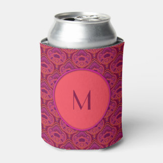 Feathered Paisley - Pinkoinko Can Cooler