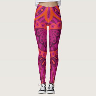 Feathered Paisley - Pinkoinko Leggings