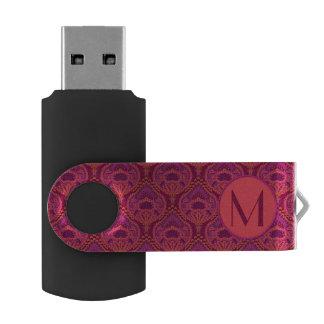 Feathered Paisley - Pinkoinko Swivel USB 2.0 Flash Drive