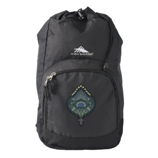 Feathered Paisley - Winter Forest Backpack