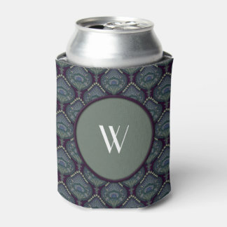 Feathered Paisley - Winter Forest Can Cooler