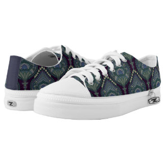 Feathered Paisley - Winter Forest Low Tops