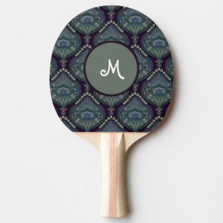 Feathered Paisley - Winter Forest Ping Pong Paddle