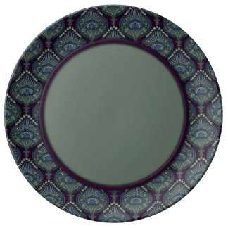Feathered Paisley - Winter Forest Plate