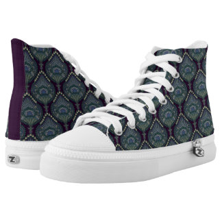 Feathered Paisley - Winter Forest Printed Shoes