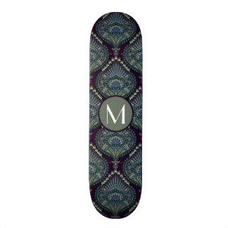 Feathered Paisley - Winter Forest Skate Board