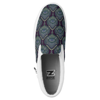 Feathered Paisley - Winter Forest Slip On Shoes