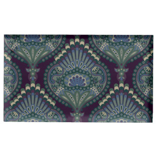 Feathered Paisley - Winter Forest Table Card Holder