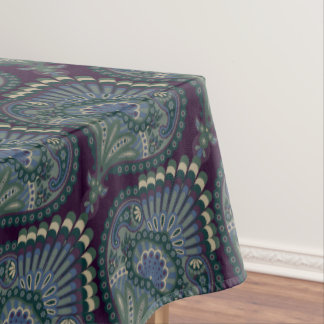 Feathered Paisley - Winter Forest Tablecloth