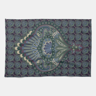Feathered Paisley - Winter Forest Tea Towel