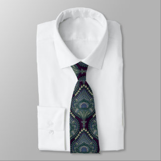 Feathered Paisley - Winter Forest Tie