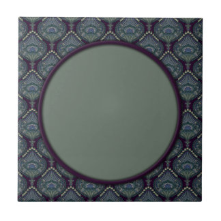 Feathered Paisley - Winter Forest Tile