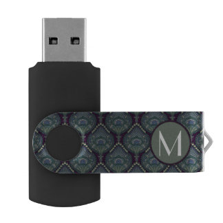Feathered Paisley - Winter Forest USB Flash Drive