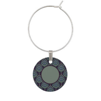 Feathered Paisley - Winter Forest Wine Charm