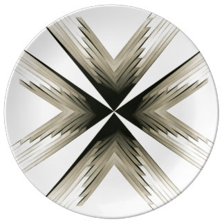 Feathered Star Dinnerplate in Gold Plate