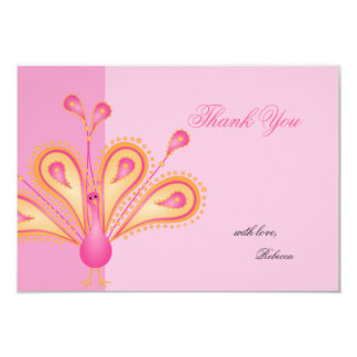 "Feathered Thank You 3.5"" X 5"" Invitation Card"
