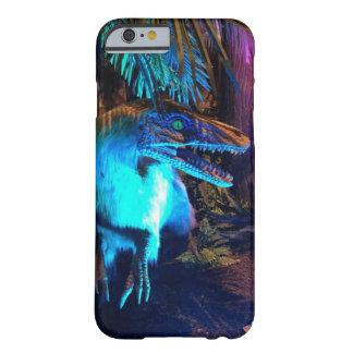 Feathered Velociraptor Neon Light Photo Phone Case