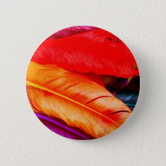 Feathers 6 Cm Round Badge