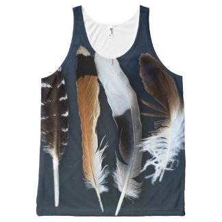 Feathers All-Over Print Tank Top