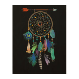 Feathers and Arrow | Dream Catcher | You Customise Wood Print