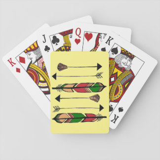 Feathers and Arrows Playing Cards