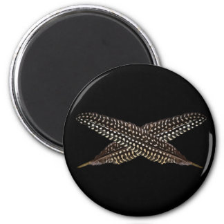 Feathers are symbols of spiritual ascension 6 cm round magnet