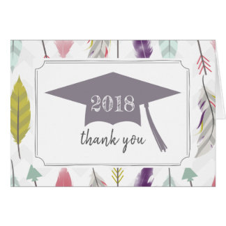 Feathers + Arrows 2018 Graduation Thank You Card