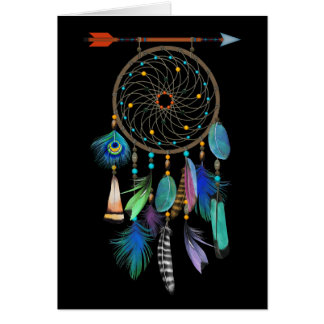 Feathers Dream Catcher | Customisable | Birthday Card