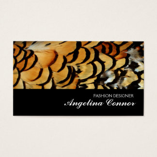 Feathers Fashion Designer Card