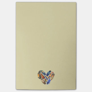 Feathers In A Heart Shape Watercolor Design Post-it® Notes