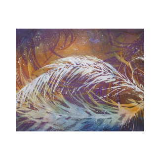 Feathers in Watercolour Canvas Print