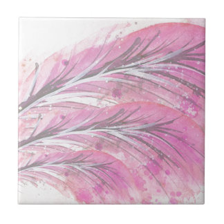 feathers, light rose, elegant, sophisticated ceramic tile