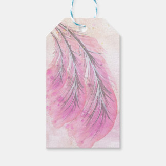 feathers, light rose, elegant, sophisticated gift tags