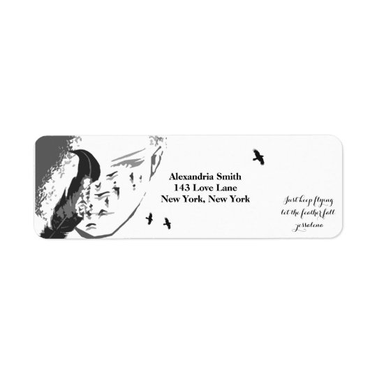 Feather's of Change Return Address Label